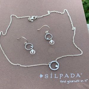 Retired Silpada sterling necklace and earring set